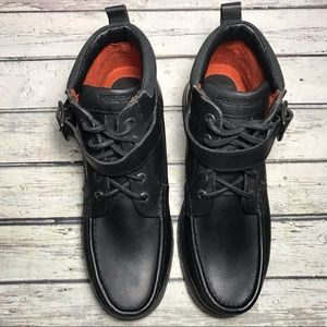 Polo Sport Men's Black Leather Boots
